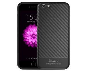 Husa iPaky Carbon Fiber iPhone 6 / 6S, Negru