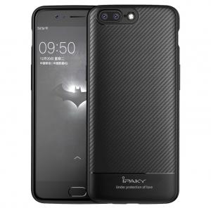 Husa iPaky Carbon Fiber OnePlus 5, Negru