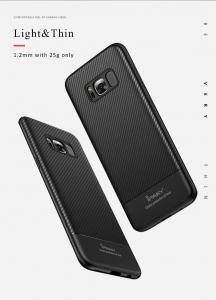 Husa iPaky Carbon Fiber Samsung Galaxy S8, Negru