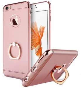 Husa iPhone 6 Plus / 6S Plus Joyroom LingPai Ring, Rose Gold