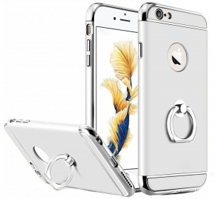 Husa iPhone 6 Plus / 6S Plus Joyroom LingPai Ring, Silver