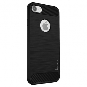 Husa iPhone 8 iPaky Fiber, Negru