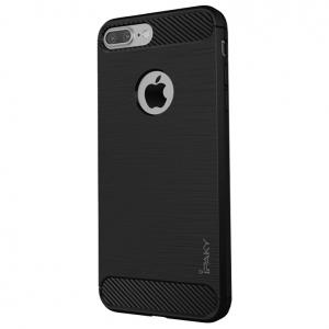 Husa iPhone 8 Plus iPaky Fiber, Negru