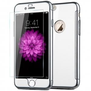 Husa Joyroom 360 + folie sticla iPhone 7 Plus, Silver