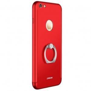 Husa Joyroom 360 Ring + folie sticla iPhone 6 Plus / 6S Plus, Red