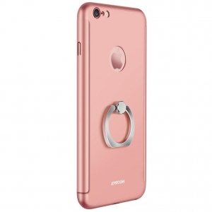 Husa Joyroom 360 Ring + folie sticla iPhone 6 Plus / 6S Plus, Rose Gold