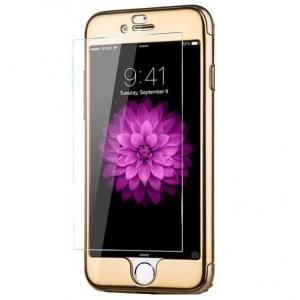 Husa Joyroom 360 Ring + folie sticla iPhone 7, Gold
