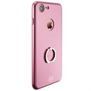 Husa Joyroom 360 Ring + folie sticla iPhone 7, Rose Gold