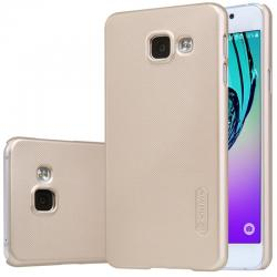 Husa Nillkin Frosted + folie protectie Samsung Galaxy A3 (2016), Gold