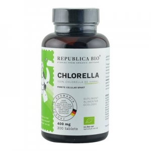 Chlorella Ecologica de Hawaii (400 mg) Republica BIO, 300 tablete