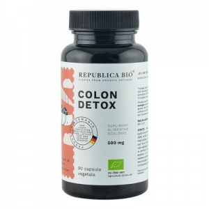 Colon Detox (500 mg) supliment alimentar Ecologic Republica BIO, 90 capsule
