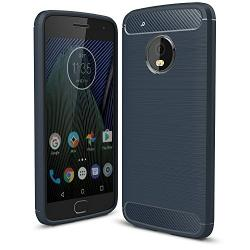 Husa Motorola Lenovo Moto G5 Plus-Iberry Carbon Dark Blue