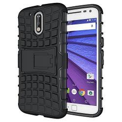 Husa Motorola Moto G4,G4 Plus-Armor KickStand Black