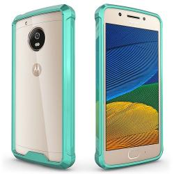 Husa Lenovo Motorola Moto G5 Plus-Iberry Shockproof Crystal Green