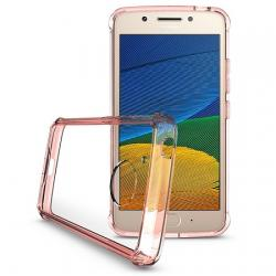Husa Lenovo Motorola Moto G5 Plus-Iberry Shockproof Crystal Pink