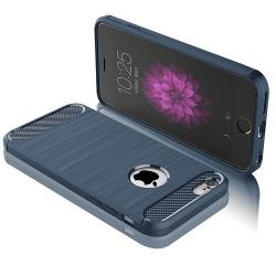 Husa Iphone 7,Iphone 8-Iberry Carbon Dark Blue