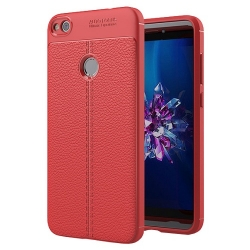 Husa Huawei P8 Lite,P9 Lite (2017)-Iberry Litchi Flexible Red