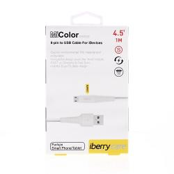Cablu Iphone 5,5S,5C,SE,6,6Plus,7,7 Plus,8-Iberry 8 Pin MiColor