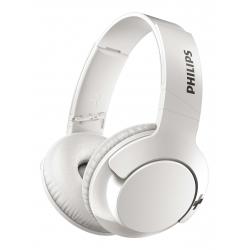 Casti Wireless Philips Bass+ SHB3175WT, Albe