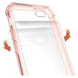 Husa Iphone 6,Iphone 6S-Iberry Shockproof Crystal Pink