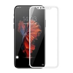 Folie Sticla Iphone X-Pro+ 3D Soft Full Glue White