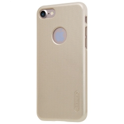 Husa Iphone 7,Iphone 8 + Folie Protectie-Nillkin Frosted Shield Gold