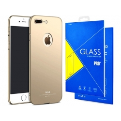 Husa Apple Iphone 7 Plus,Iphone 8 Plus + Tempered Glass-MSVII Aurie