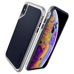 Husa Apple Iphone XS,Iphone X-Spigen Neo Hybrid Argintie