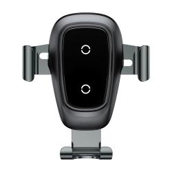 Suport Auto Universal cu Incarcare Wireless-Baseus Metal Gravity Negru