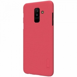 Husa Samsung Galaxy A6+ Plus 2018 + Folie Protectie-Nillkin Frosted Shield Rosie