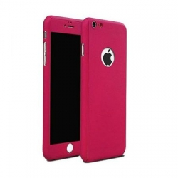 Husa Iphone 5,Iphone 5S,Iphone SE-Iberry Full Cover 360° Roz