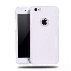 Husa Iphone 7 Plus,Iphone 8 Plus-Iberry Full Cover 360° Alb