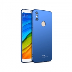 Husa Xiaomi Redmi Note 5,Redmi Note 5 Pro + Tempered Glass-MSVII Albastra