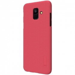 Husa Samsung Galaxy A6 2018 + Folie Protectie-Nillkin Frosted Shield Rosie
