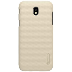 Husa Samsung Galaxy J3 J330 (2017)+Folie Sticla-Nillkin Frosted Shield Gold