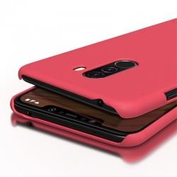 Husa Xiaomi Pocophone F1 + Suport Birou-Nillkin Frosted Shield Rosie