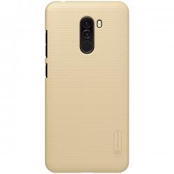 Husa Xiaomi Pocophone F1 + Suport Birou-Nillkin Frosted Shield Aurie