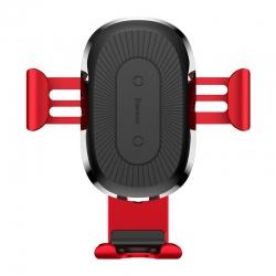 Suport Auto Universal cu Incarcare Wireless-Baseus Gravity Rosu