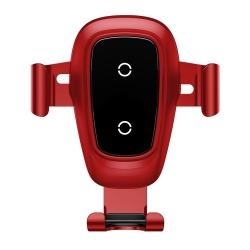 Suport Auto Universal cu Incarcare Wireless-Baseus Metal Gravity Rosu