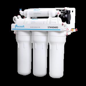 Purificator apa cu osmoza inversa Ecosoft in 5 trepte si pompa booster