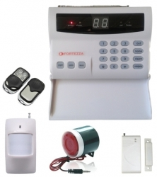 Alarma wireless (+pe cablu) FORTEZZA TEL-N2L0
