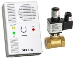 Detector de gaz metan si monoxid (CO) Secor2000 cu electrovalva