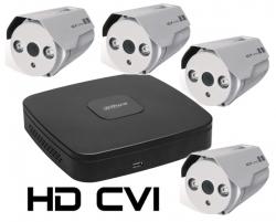 Kit DAHUA supraveghere HD exterior Pro ve04AHD 1.3Mpixeli