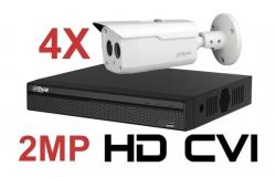 Kit DAHUA supraveghere HD exterior Pro ve04FHD 2Megapixeli