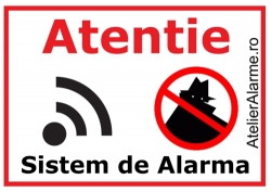 Semn avertizare sistem alarma