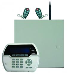 Sistem alarma hybrid (wireless+cablat) FORTEZZA PRO GSM COM8832, 8 partitii