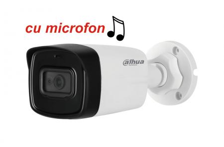 Camera de exterior HDCVI 2 Megapixeli DAHUA HAC-HFW1200TL-A, cu microfon