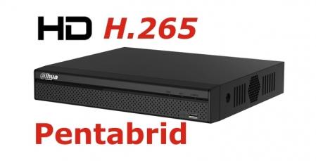 DVR Full HD pentabrid 4+2 camere HD+IP DAHUA XVR5104H-X