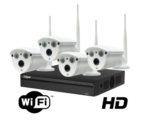 Kit wireless DAHUA IP HD 2 Megapixeli supraveghere exterior Pro ve04IP2m_A