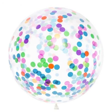 Balon gigant Confetti - 1m diametru, mix1